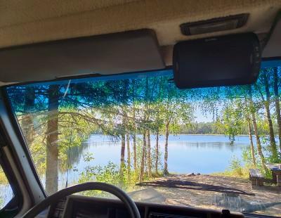 Härlig utsikt från husbilen